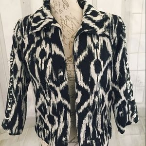 Christopher & Banks Women's Small Jacket Ikat